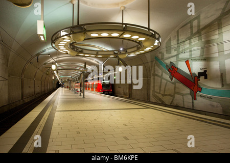 Marktplatz subway station, Frankfurt, Germany - Stock Photo