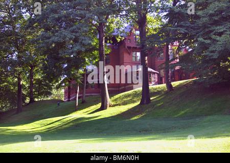 Mark Twain's house, Hartford, Connecticut, USA - Stock Photo