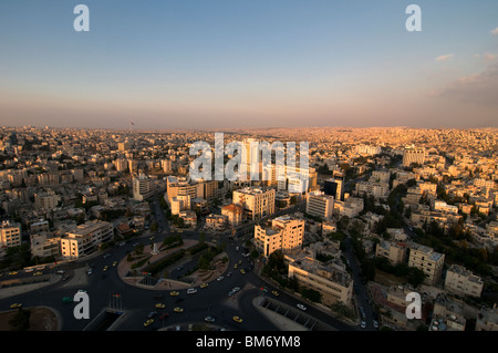 Scenic view of downtown Amman capital of the Hashemite Kingdom of Jordan - Stock Photo