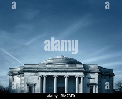 architecture image of the Lady Lever art gallery in Port Sunlight, Wirral, UK showing front elevation, pillars and - Stock Photo