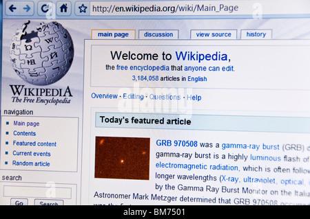 Wikipedia website screenshot - Stock Photo