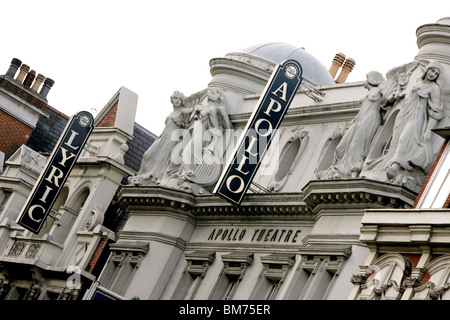 The Lyric and Apollo Theatres, London - Stock Photo
