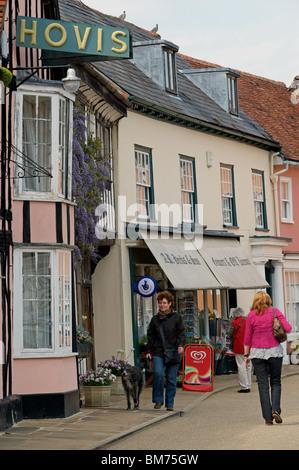 Village shops, Suffolk, UK. - Stock Photo