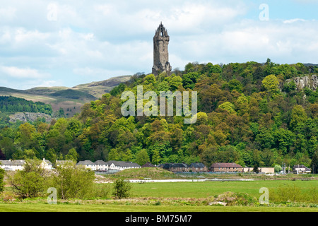 The National Wallace Monument on Abbey Craig north of Stirling in Scotland - Stock Photo
