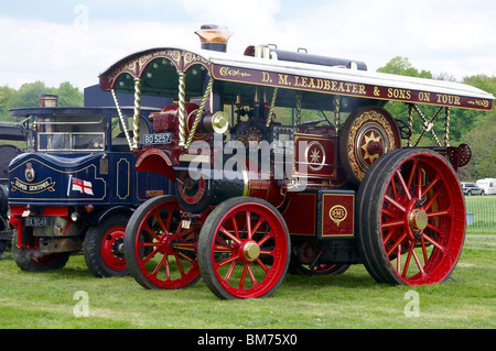 Burrell Showman's road locomotive designed for traveling fairgrounds to move rides and to power rides using electric - Stock Photo