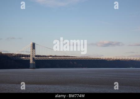 The George Washington Bridge spanning the Hudson River