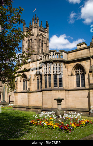 Manchester Cathedral on Victoria Street in Manchester city center, England, UK - Stock Photo
