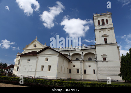 The Se Cathedral in Old Goa, Goa State in India. - Stock Photo
