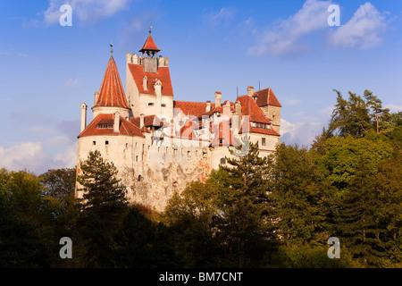 Romania, Transylvania, Saxon Land and the Prahova Valley, Bran, Bran Castle, most commonly known as 'Dracula's Castle' - Stock Photo