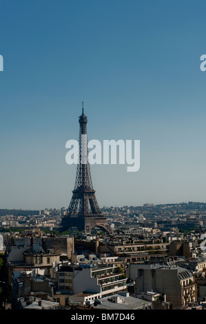 Paris, France, Eiffel Tower, Daytime, Cityscape View - Stock Photo