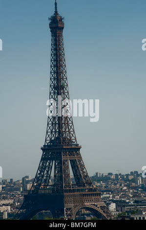 Paris, France, Eiffel Tower, Daytime, View Famous French Monument - Stock Photo