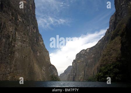 The Sumidero Canyon in Tuxla Gutierrez, Chiapas, Mexico, February 18, 2010. - Stock Photo