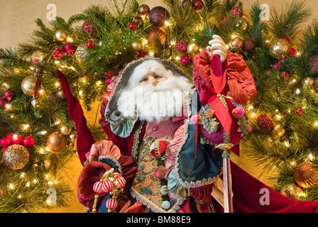 Santa Claus figure in store display, Orlando, Florida, USA - Stock Photo