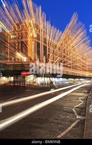 Harrods at Night - Stock Photo