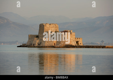 Bourtzi Castle, an island fortress in the harbour of Nauplion, completed by the Venetians, 1473, regained from Turkey - Stock Photo