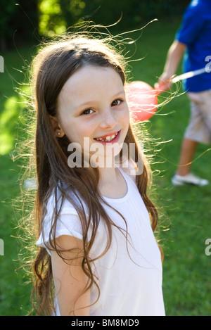 Girl smiling, portrait - Stock Photo