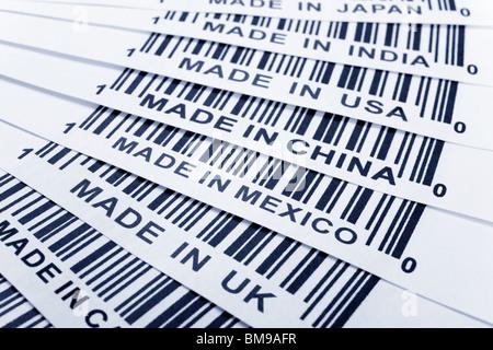 barcode, trade war, business concept - Stock Photo