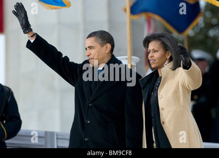 President- Elect Barack Obama and Michelle Obama at the We Are One Concert. - Stock Photo
