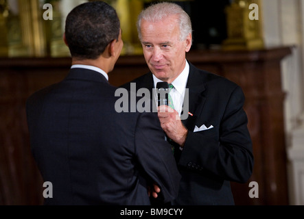 President Barack Obama and Vice-President Joe Biden - Stock Photo