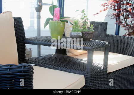 garden and patio furniture rattan love seat with japanese style parasol brookfields garden centre nottingham - Garden Furniture Love Seat