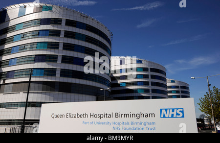 The new Queen Elizabeth Hospital at the end of it's construction. - Stock Photo