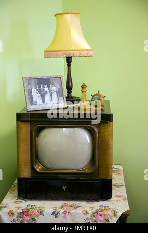 1950s television, Museum of East Anglian Life, Stowmarket, Suffolk - Stock Photo