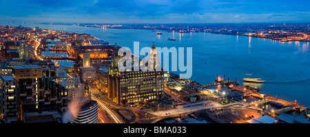 Liverpool's Historic Waterfront World Heritage Site - Stock Photo