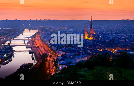 river seine,Rouen, Normandy, France, Europe - Stock Photo