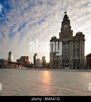 Liverpool's Historic Waterfront World Heritage Site - Stock Photo