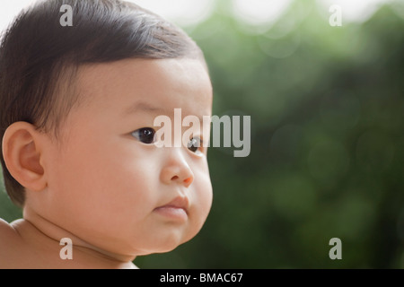 Close-Up of Baby Boy - Stock Photo
