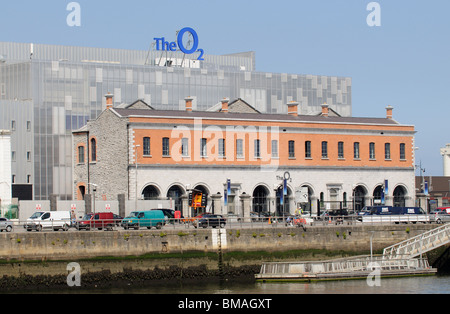 The O2 Theatre in the Docklands area of Dublin waterfront - Stock Photo