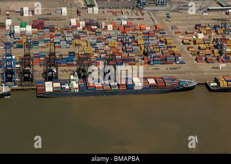 The CSAV Pyrenees at the Port of Felixstowe UK - Stock Photo