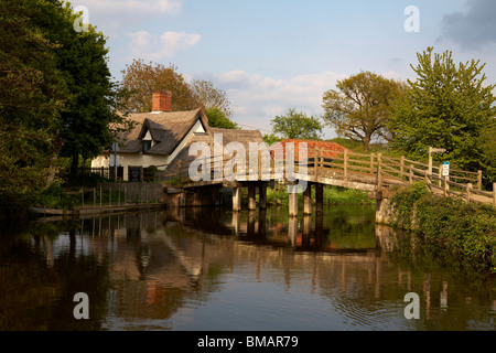 Great Britain Suffolk Flatford Constable Country River Stour - Stock Photo