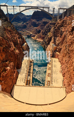 The world famous Hoover Dam-Boulder City, Nevada, USA. - Stock Photo