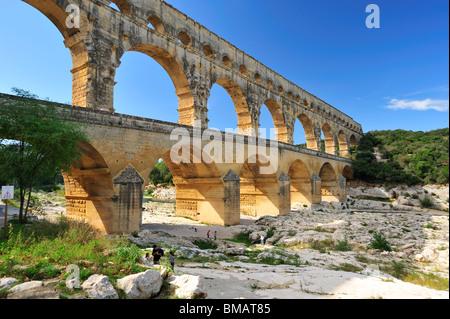 Pont du Gard, Languedoc-Roussillon, France - Stock Photo