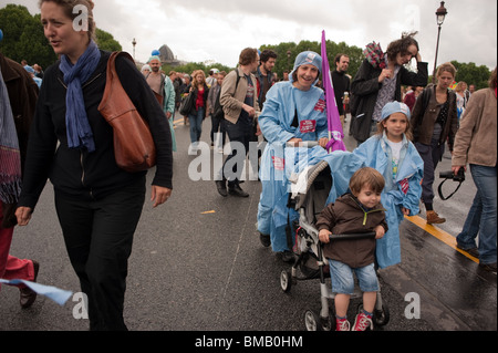 Tens of thousands of workers, Demonstrating against French Government's  plans to change Pension Plan, Age of Retirement, - Stock Photo
