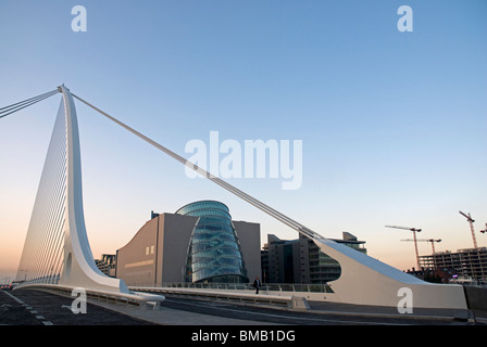 Samuel Beckett Bridge over the River Liffey, Dublin - Stock Photo