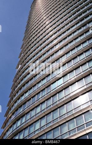 Marriott Hotel, West India Quay, Canary Wharf Estate, London Ei4, United Kingdom - Stock Photo