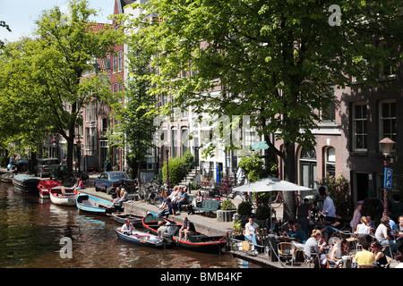Prinsengracht canal Amsterdam - Stock Photo