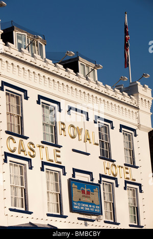 UK, England, Devon, Dartmouth, The Quay, Royal Castle Hotel - Stock Photo