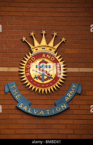 Salvation Army, logo, England, UK - Stock Photo