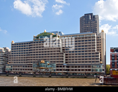 Sea Containers House and River Thames, London - Stock Photo