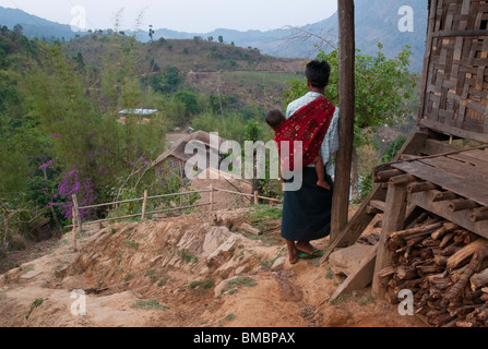 Myanmar. Burma. Shan State. In Kaung village in Kalaw township - Stock Photo
