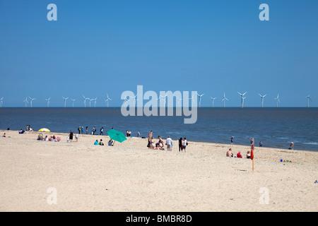 Great Yarmouth Beach - Stock Photo