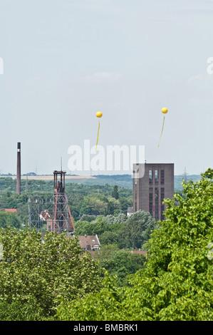 Zeche Zollverein Schachtzeichen Zollverein coal mine shaft sign European Capital of Culture 2010 - Stock Photo