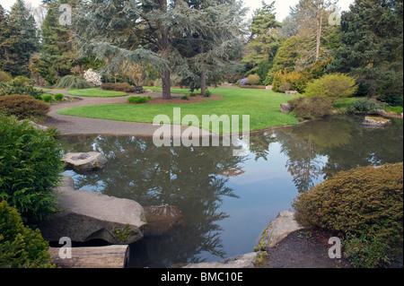 ... Kubota Garden Seattle Washington State USA With Beautiful Flowers And  Ponds And Paths Through The Gardens