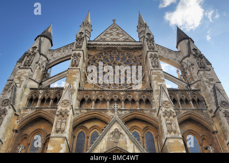 North Entrance of Westminster Abbey - Stock Photo