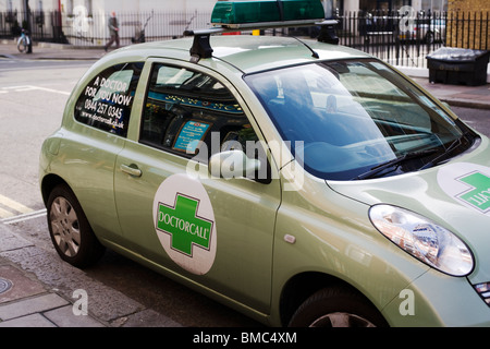 Doctorcall car,Private Medical emergencies, Manchester Street, London, England, UK, Europe - Stock Photo