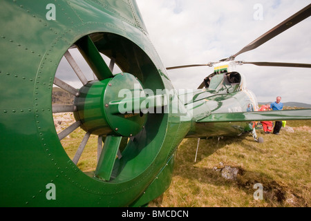 A great north air ambulance above Grasmere, Lake District, UK. - Stock Photo
