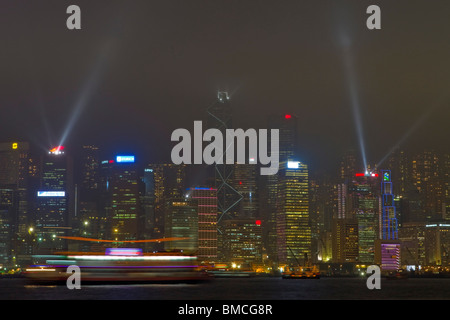 Symphony of Lights, Hong Kong, SAR of China - Stock Photo